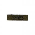 Grimes Name Tab (Olive Drab)