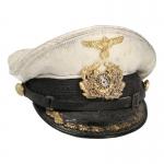 Worn Kapitänleutnant Kriegsmarine Cap (White)