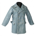 Leather Kriegsmarine Coat (Blue)