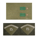 Caporal Collar Tabs with Chevrons (Olive Drab)