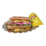 Sandwich and Chips with Diecast Plate (Yellow)