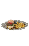 Hamburger and Chips with Diecast Plate (Beige)