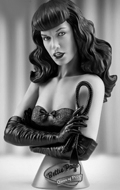Queen Of Pinups - Bettie Page Naughty Bettie Bust Version 1