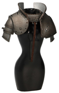 Diecast Female Cross Knight Shoulder Pads (Grey)