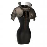 Epaulettes de chevalier Croisé en métal Femme (Gris)