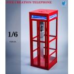 Cabine téléphonique en métal (Rouge)