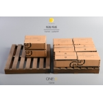 Wooden Plank and Express Box Set (Brown)