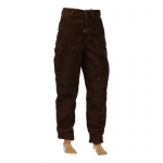 Pantalon en velours (Marron)