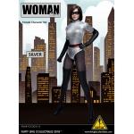 Female Woman Hero Set (Silver)