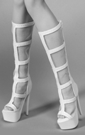 Female Heeled Boots (White)