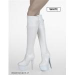 Female Heeled Boots (White)
