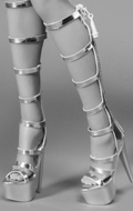 Female Heeled Boots (Silver)