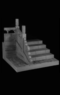 Ancient Steps with Carve Patterns Left Side Diorama (Beige)