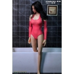 Female Pne-Piece Swimming Suit (Pink)