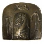 Protection d'épaule Galerus en métal (Or)