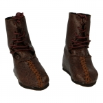 Leather Calcei Boots (Brown)