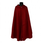 Velvet Romain Centurion Sagum Cape (Red)