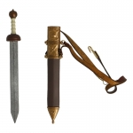 Diecast Gladius Sword with Scabbard (Brown)