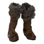 Leather Boots with Fur (Brown)