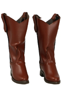 Leather Cowboy Boots (Brown)