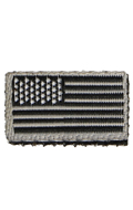 Patch drapeau Etats-Unis (Gris)