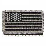 US Flag Patch (Grey)