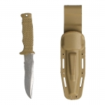 Combat Knife with Kydex Sheath (Beige)