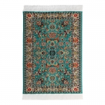 15x10cm Real Woven Carpet (Green)