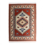 Véritable tapis tissé 20x30cm (Orange)