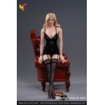 Female L Size Sexy Lingerie Set (Black)