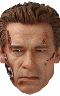 Battle Damaged Arnold Schwarzenegger Headsculpt