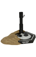 Rey & BB-8 Jakku Desert Diorama Display Stand (Black)