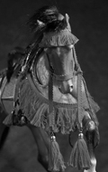 Akhal-Teke Horse with Accessories Set (Brown)