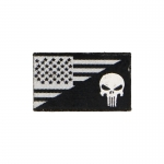 US Flag Punisher Patch (Black)