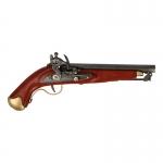 Pistolet Cavalerie en bois et métal (Marron)