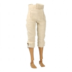 Pantalon à pont en velours (Beige)