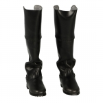 Leather Cavalry Boots (Black)