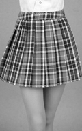 Uniform Series - Female Green Tartan Plaid Skirt (Green)