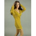 Female Glitter Mini Party Dress (Yellow)