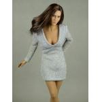 Female Glitter Mini Party Dress (Grey)