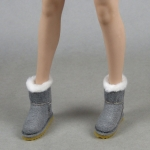 Female Suede Boots (Grey)