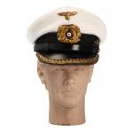 Kriegsmarine U-Boat Senior Officer Schirmmütze Visor Cap (White)