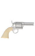 Short Barrel Single Action Army Colt Revolver (Silver)