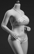 Caucasian Pale Female Super Flexible Seamless Body (Large Bust)