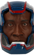 Headsculpt Don Cheadle avec casque Iron Patriot (Bleu)