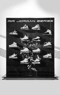 Air Jordan Sneakers with Display Shelf Set (Blue)
