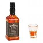 Jack Daniel's Whiskey Bottle with Glass (Orange)