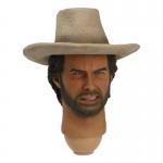 Headsculpt Clint Eastwood avec chapeau
