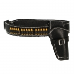 Belt with Holster and Cartridges (Black)
