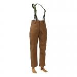 Corduroy Bib Pants (Brown)